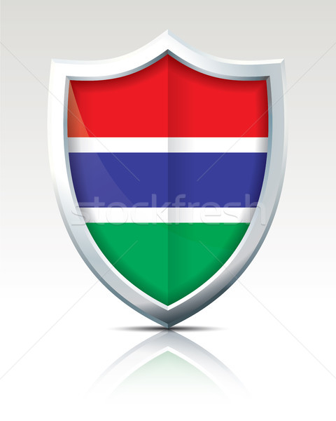 Shield with Flag of Gambia Stock photo © ojal