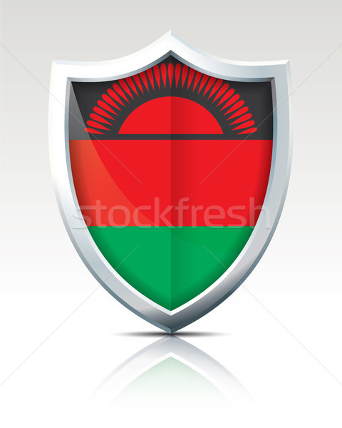 Shield with Flag of Malawi Stock photo © ojal