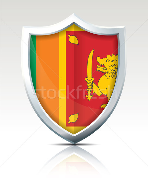 Shield with Flag of Sri Lanka Stock photo © ojal