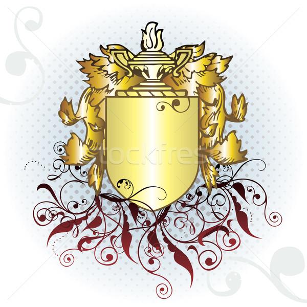 Vektor címer alkotóelem keret művészet piros Stock fotó © ojal