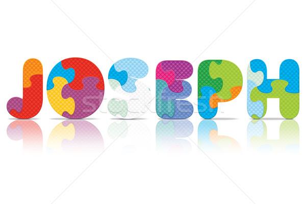Vector JOSEPH written with alphabet puzzle Stock photo © ojal