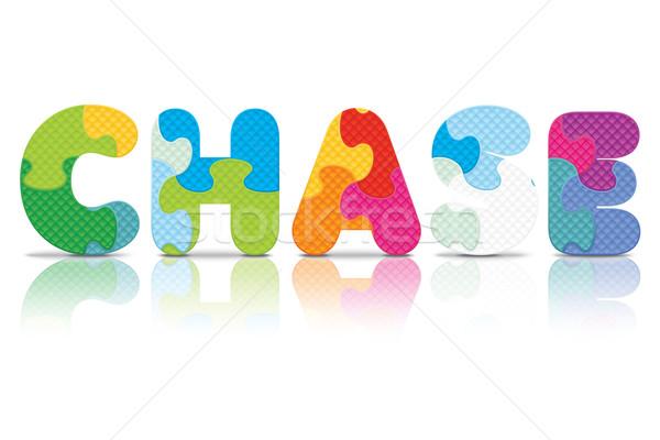 Vector CHASE written with alphabet puzzle Stock photo © ojal