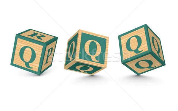 вектора буква q алфавит блоки бизнеса Сток-фото © ojal