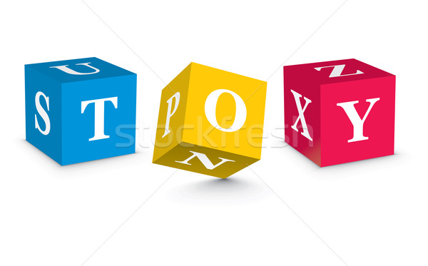 Stock photo: Word TOY written with alphabet blocks