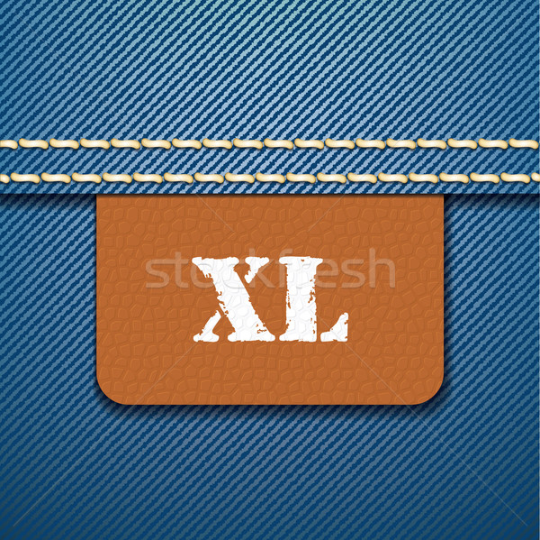 XL size clothing label - vector Stock photo © ojal