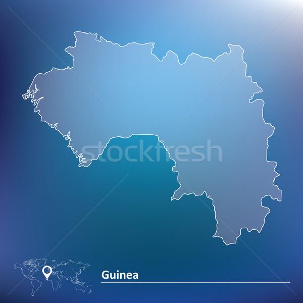 Térkép Guinea textúra utazás piros szél Stock fotó © ojal