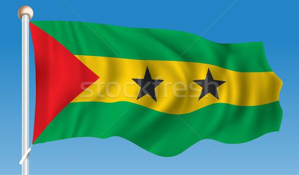 Flag of Sao Tome and Principe Stock photo © ojal