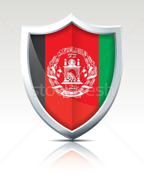 щит флаг Афганистан карта фон знак Сток-фото © ojal