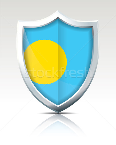 Shield with Flag of Palau Stock photo © ojal