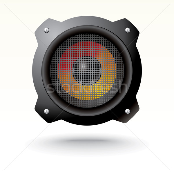 audio speaker with grid Stock photo © ojal