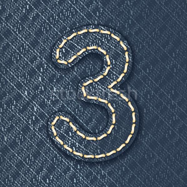 Número jeans tecido carta pano belo Foto stock © ojal