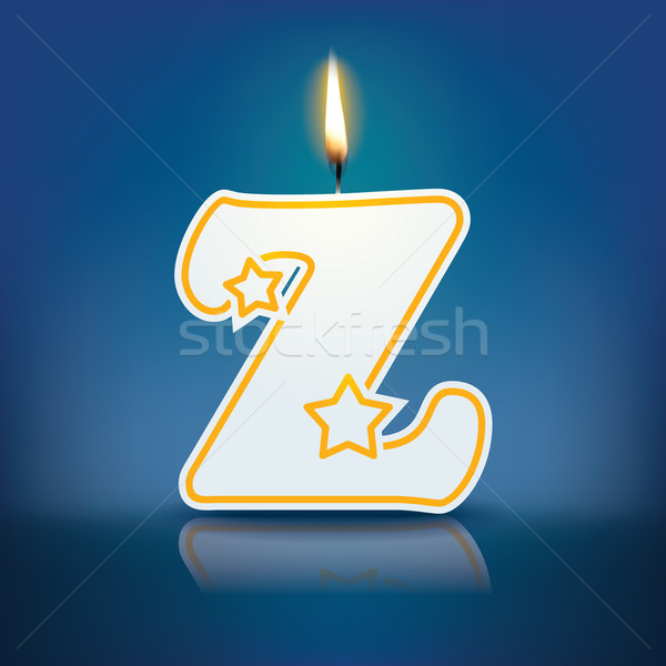 Candle letter Z with flame Stock photo © ojal