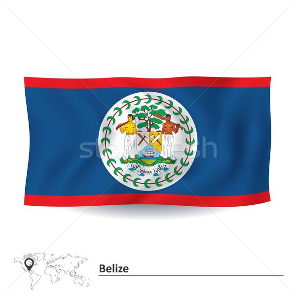 Zászló Belize világ Föld művészet utazás Stock fotó © ojal