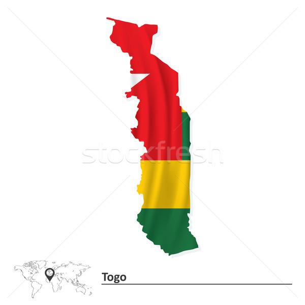 Pokaż Togo banderą tekstury tle zielone Zdjęcia stock © ojal