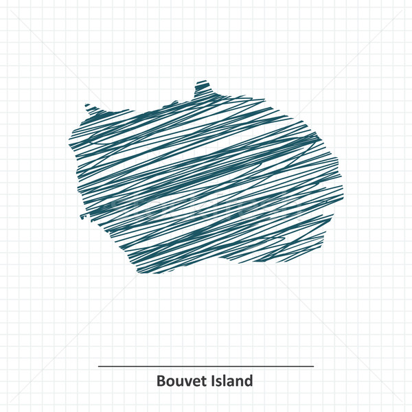 Doodle sketch of Bouvet Island map Stock photo © ojal