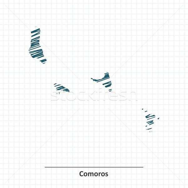 Doodle sketch of Comoros map Stock photo © ojal