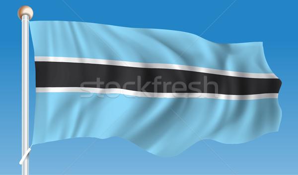 Flag of Botswana Stock photo © ojal