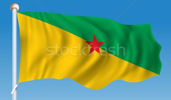 Vlag frans kaart abstract ontwerp achtergrond Stockfoto © ojal