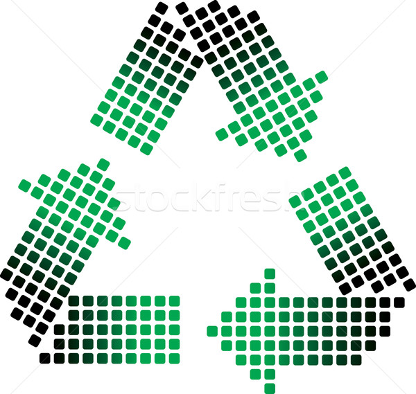 dotted recycling symbol Stock photo © ojal