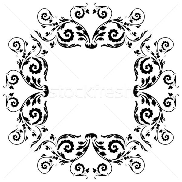 вектора цветочный упаковка свадьба аннотация металл Сток-фото © ojal