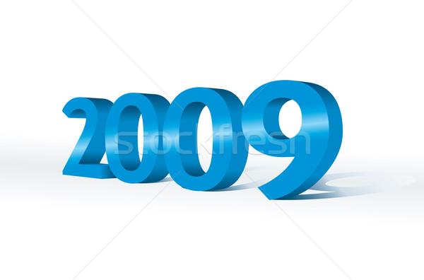 3D 2009 yılbaşı parti altın duvar kağıdı Stok fotoğraf © ojal