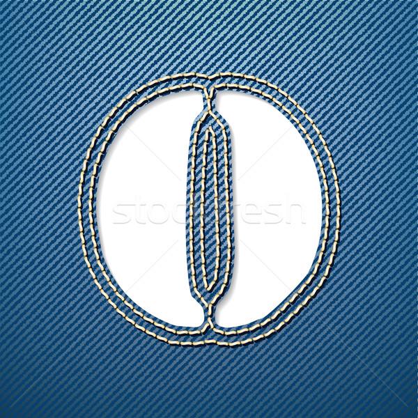 Denim jeans letter O Stock photo © ojal