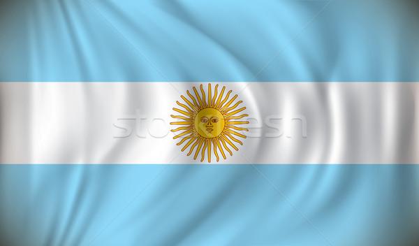 Pavillon Argentine résumé lumière fond signe Photo stock © ojal
