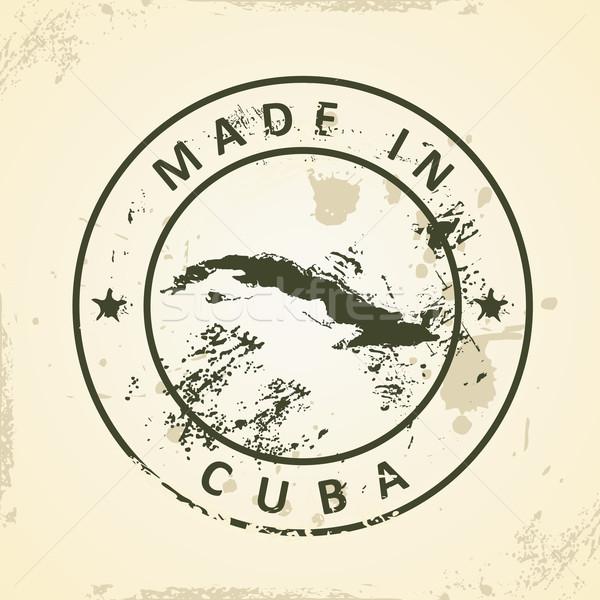 Pieczęć Pokaż Kuba grunge tekstury streszczenie Zdjęcia stock © ojal