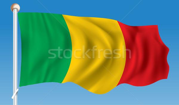 Bandiera Mali texture segno verde viaggio Foto d'archivio © ojal