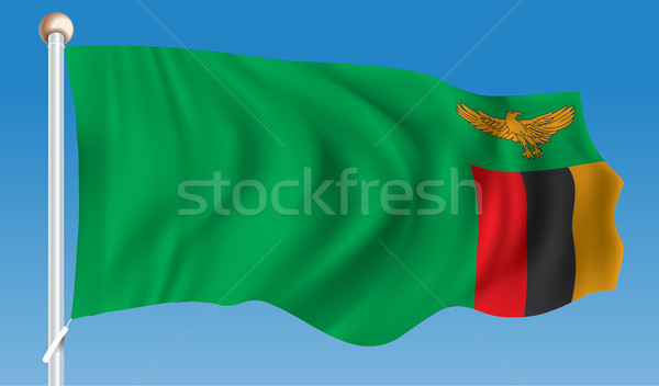 Flag of Zambia Stock photo © ojal
