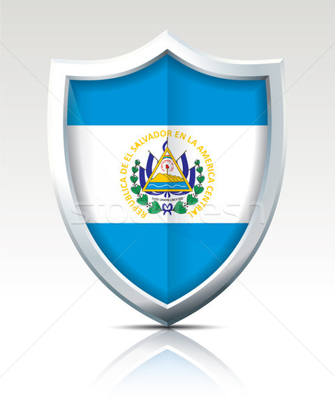 Shield with Flag of El Salvador Stock photo © ojal