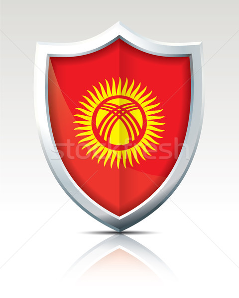 Shield with Flag of Kyrgyzstan Stock photo © ojal