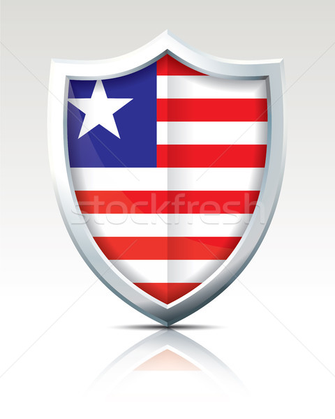Shield with Flag of Liberia Stock photo © ojal