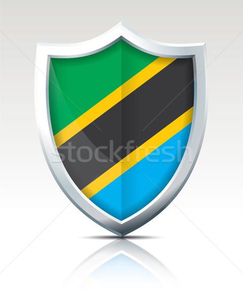 Schirm Flagge Tansania abstrakten Welt Zeichen Stock foto © ojal