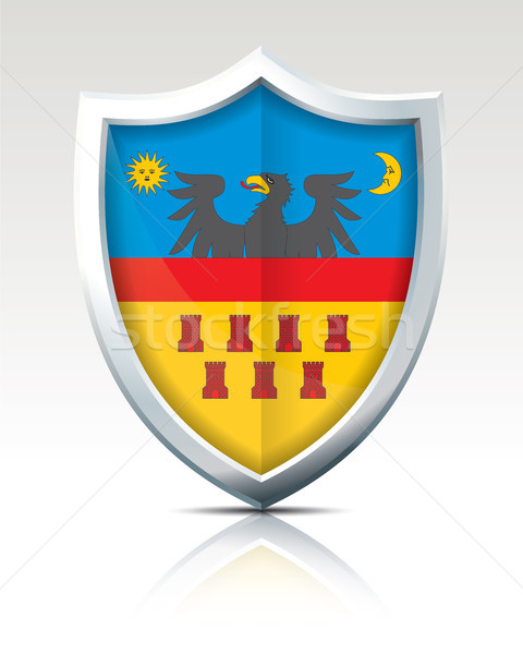 Shield with Flag of Transylvania Stock photo © ojal