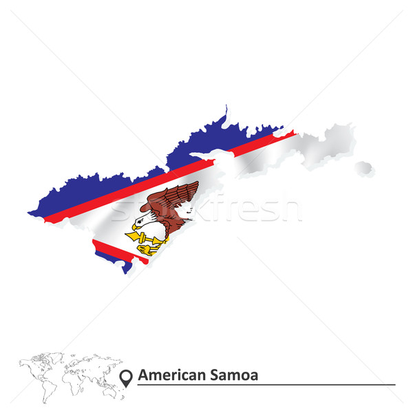 Mapa Samoa Americana bandeira negócio mundo terra Foto stock © ojal