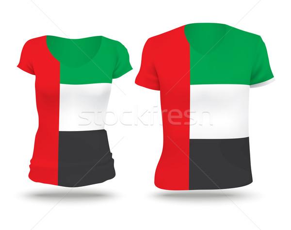 Bandeira camisas projeto Emirados Árabes Unidos mulher homem Foto stock © ojal