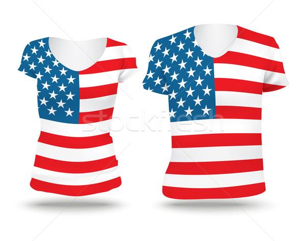 Flag shirt design of United States of America Stock photo © ojal