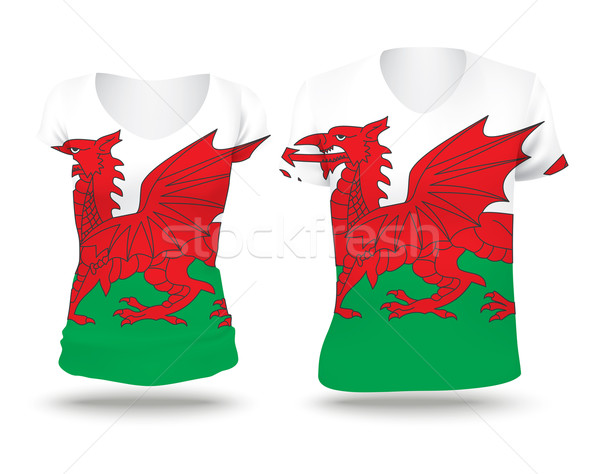 Flag shirt design of Wales Stock photo © ojal