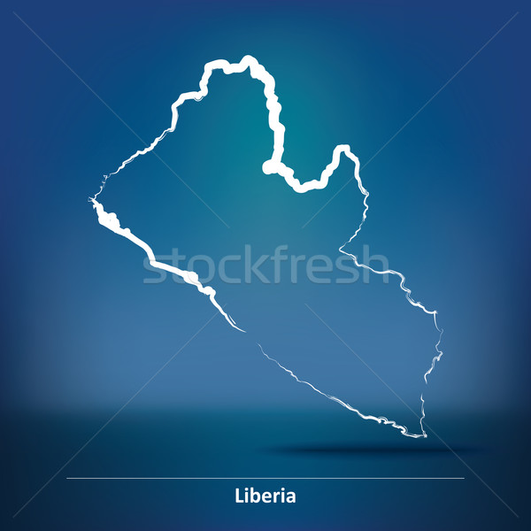 Doodle Map of Liberia Stock photo © ojal