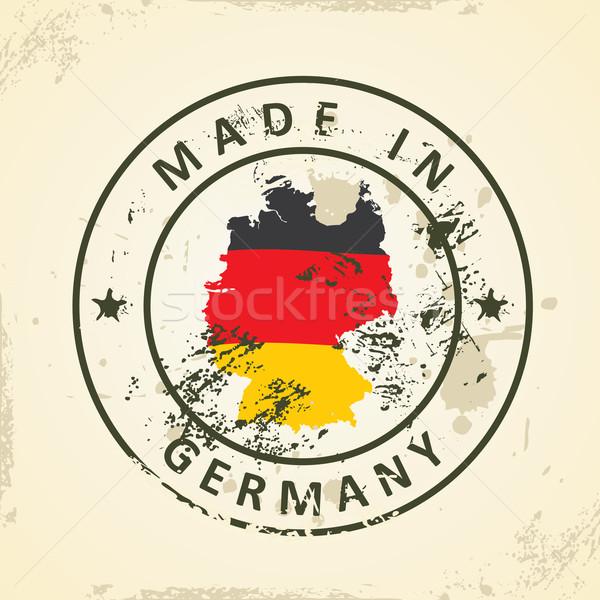 Carimbo mapa bandeira Alemanha grunge mundo Foto stock © ojal