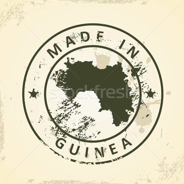 Stamp with map of Guinea Stock photo © ojal