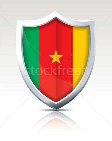 Escudo bandeira Camarões textura mapa abstrato Foto stock © ojal