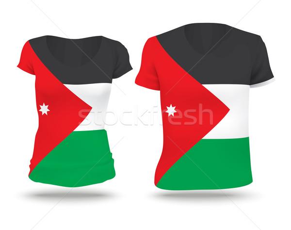 Bandeira camisas projeto Jordânia mulher homem Foto stock © ojal