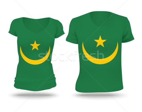 Flag shirt design of Mauritania Stock photo © ojal