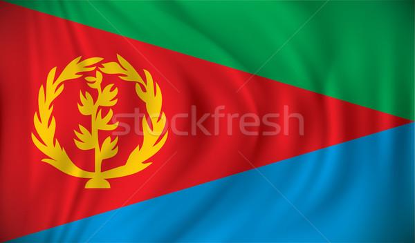 флаг Эритрея текстуры аннотация Мир искусства Сток-фото © ojal