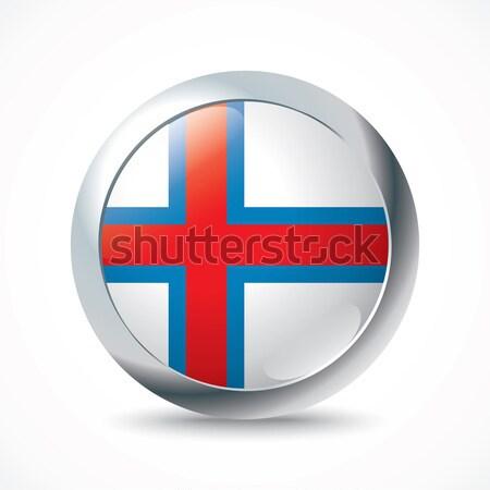Norvegia bandiera pulsante mondo blu rosso Foto d'archivio © ojal