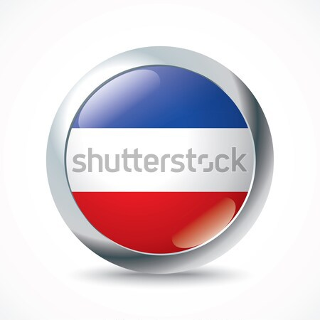 Serbia and Montenegro flag button Stock photo © ojal
