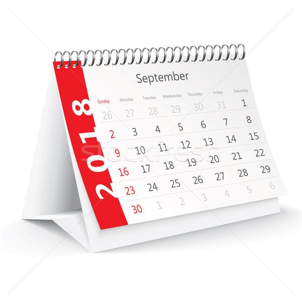デスク カレンダー オフィス 春 冬 ノートブック ストックフォト © ojal