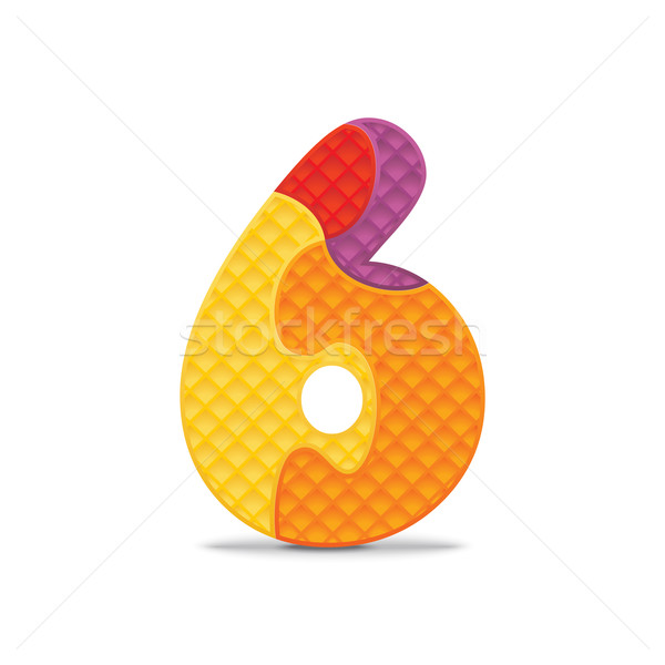 Vector number 6 written with alphabet puzzle Stock photo © ojal